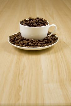 Free Coffe Cup Of Beans 7 Stock Photo - 4219910