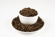 Coffe Cup Of Beans 5 Stock Images