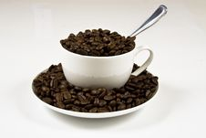Free Coffe Cup Of Beans 6 Stock Photography - 4219922