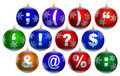 Free Collection Of 12 Shiny Baubles Stock Images - 4228414