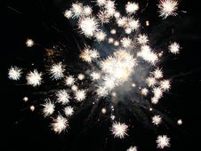 White Firework Stock Photography