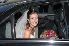 Free Bride In The Car Stock Photos - 4221283