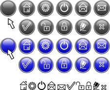 Free Set Of Web Icons. Royalty Free Stock Images - 4221659