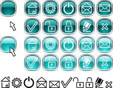 Free Set Of Web Icons. Stock Photo - 4221690