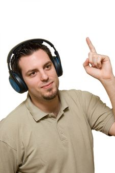 Free Man Pointing To Music Royalty Free Stock Photography - 4222967