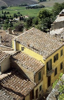 Free Cortona Rooftops Stock Images - 4222984