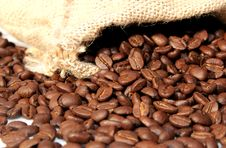 Free Coffee Beans In Sack Stock Images - 4223174