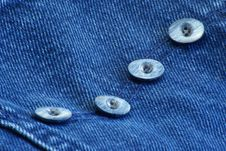 Free Buttons On Denim Stock Photos - 4223183