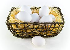 Free White Eggs Royalty Free Stock Photo - 4223625