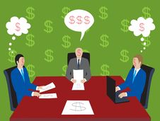 """Free At The Table With """"dollar Si Stock Photography - 4224422"""