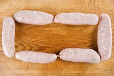Free Six Uncooked Sausages Royalty Free Stock Photo - 4224455