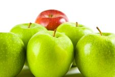 Free Six Apples In A Triangle Stock Images - 4224484