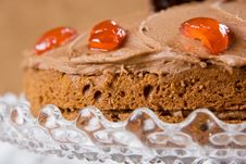 Chocolate Cake With Cherries Royalty Free Stock Images