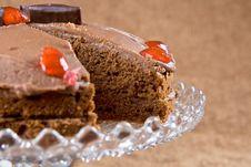 Free Chocolate Cake With Cherries Stock Photos - 4224553
