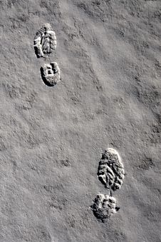 Free Footsteps In Snow No.2 Stock Photos - 4225063