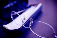 Closeup Of Eyeglasses Stock Images