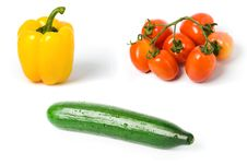 Free Pepper Tomato And Cucumber Stock Images - 4226644