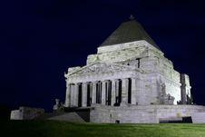 Free Shrine Of Remembrance At Night Royalty Free Stock Photos - 4228158