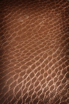 Free Dark Brown Crackled Leather Stock Photography - 4228162