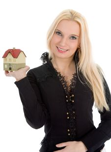 Free Business Woman Advertises Real Estate Stock Photography - 4228212