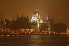 Houses Of Parliament In Budapest, Hungary Stock Images