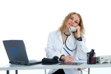 Free Young Doctor With Stethoscope Stock Photos - 4229253