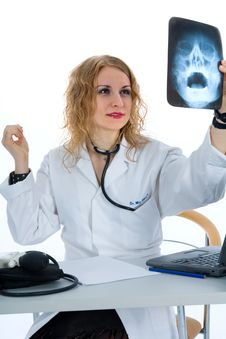 Free Young Doctor With Stethoscope Stock Photo - 4229360