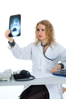 Free Young Doctor With Stethoscope Stock Images - 4229364