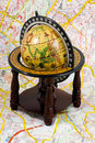 Free Globe On A Map Royalty Free Stock Photography - 4233807