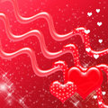 Free Red Hearts And Sparkles Backdrop Stock Images - 4237474