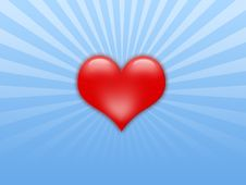 Free Red Heart On A Blue Background Stock Photos - 4230103