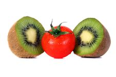 Free Tomato And Kiwi Stock Image - 4230261