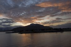 Free Sunset In The Fiord Stock Image - 4230531