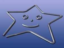 Free 3d Abstract Star With Clipping Paths Royalty Free Stock Image - 4230576