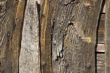 Aged Wooden Wall Stock Photography