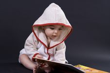 Free Happy Baby On Story Time Royalty Free Stock Image - 4231046