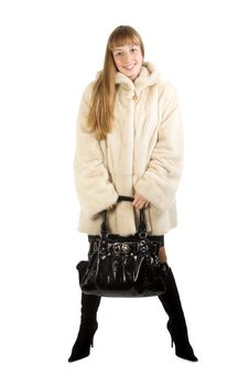 Free Pretty Young Girl In Fur Jacket Stock Photography - 4231892