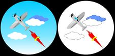 Free The Plane In Clouds Royalty Free Stock Images - 4232389