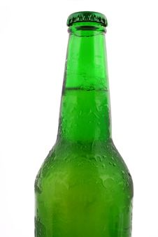 Green Bottle With Liquid Royalty Free Stock Photos