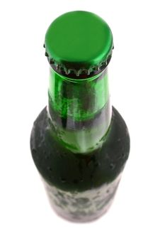 Green Bottle With Liquid Stock Images