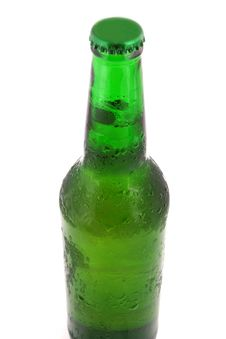 Green Bottle With Liquid Stock Image