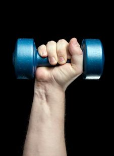 Free Dumbbell In A Hand Royalty Free Stock Photography - 4233797