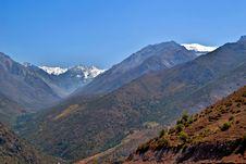 Free View Of La Leonera And El Plomo Mountains Royalty Free Stock Photos - 4233938