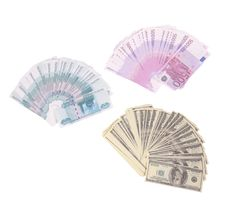 Free Money Rubles Euro Dollars Souvenir Stock Images - 4234354