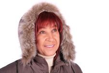 Free Woman In Winter Coat Stock Images - 4234574
