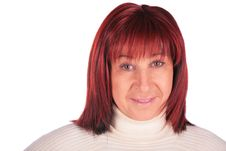 Free Red-haired Woman Close-up Stock Image - 4234591