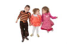 Free Three Children Lying Top View 2 Royalty Free Stock Photo - 4235195