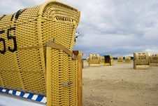 Free Beach Wicker Chair In Germany Stock Photo - 4236150