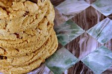 Free Chocolate Chip Cookie Stack Stock Photos - 4236213