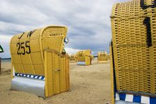 Free Beach Wicker Chairs In Germany Stock Photography - 4236272